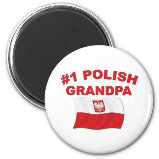 #1 Polish Grandpa 6 Cm Round Magnet