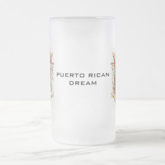 # 1 Puerto Rico Teacup Frosted Glass Beer Mug