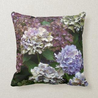 1 Purple Lavender Blue Hydrangeas Cushion