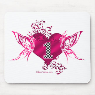 1 racing number butterflies mouse pad