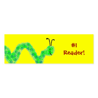 #1 Reader Bookworm Bookmark Pack Of Skinny Business Cards