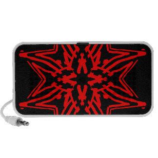 1 Red Transparent Speaker System