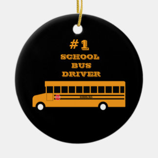 #1 School Bus Driver Christmas Ornament