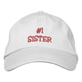 #1 SISTER-All Occasions Embroidered Cap