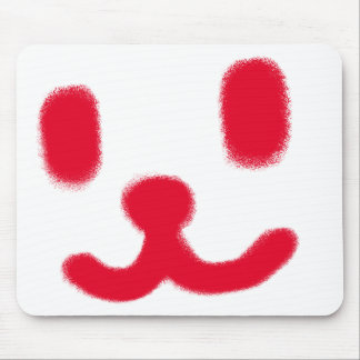 1 Smiley Red Mouse Pad