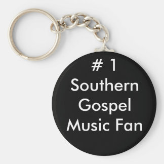 # 1 Southern Gospel Music Fan Basic Round Button Key Ring