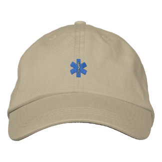 """1"""" Star Of Life Embroidered Cap"""