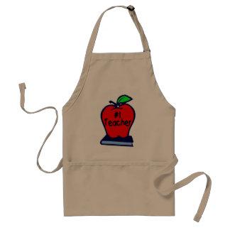#1 Teacher (Apple/Books) Adult Apron