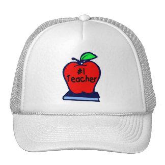 #1 Teacher (Apple/Books) Mesh Hats
