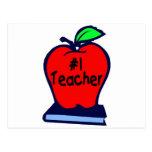 #1 Teacher (Apple/Books) Postcards