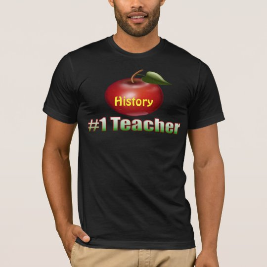 #1 Teacher Customisable T Shirt