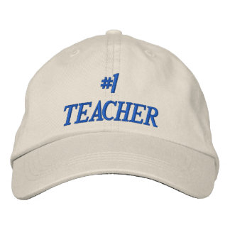 #1 TEACHER EMBROIDERED HAT