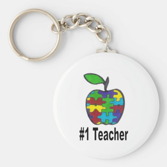 #1 Teacher Keychain