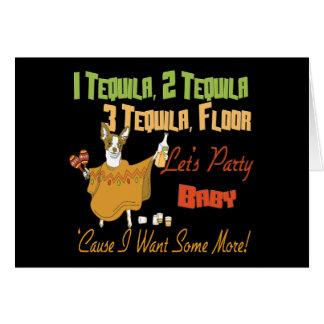 1 Tequila 2 Tequila 3 Tequila Floor Card