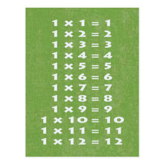 1 Times Table Collectible Postcard