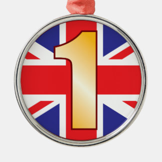 1 UK Gold Silver-Colored Round Decoration