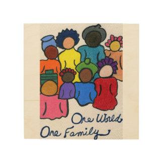 1 World 1 Family Wood Print