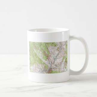 1 x 2 Degree Topographic Map Basic White Mug
