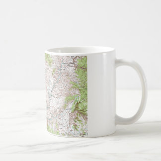 1 x 2 Degree Topographic Map Coffee Mugs