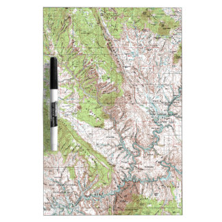 1 x 2 Degree Topographic Map Dry Erase Board