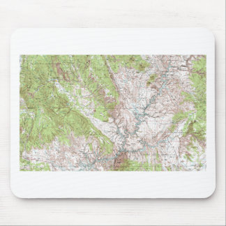 1 x 2 Degree Topographic Map Mousepad
