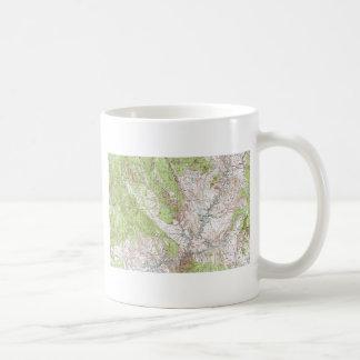 1 x 2 Degree Topographic Map Mugs