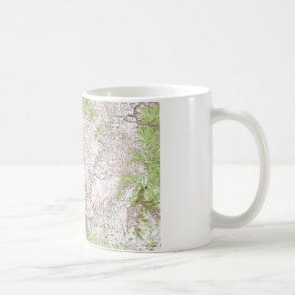 1 x 2 Degree Topographic Map Coffee Mugs