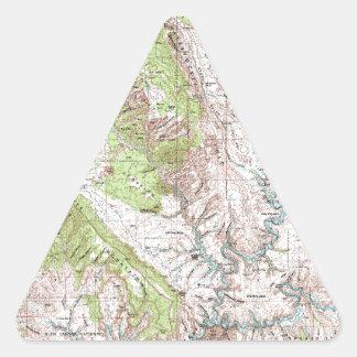 1 x 2 Degree Topographic Map Triangle Sticker
