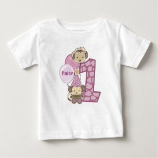 1-year old birthday t-shirt CJ-orchid style#2