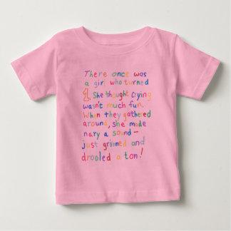 1 Year Old Girl Funny Birthday Limerick Poetry Tshirt
