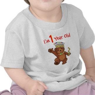 1 Year Old Royal Bear Birthday T Shirt