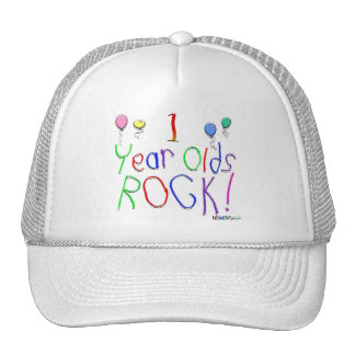 1 Year Olds Rock ! Cap