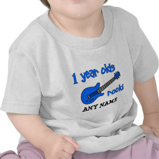 1 year olds rock! Personalized Baby's 1st Birthday T Shirt