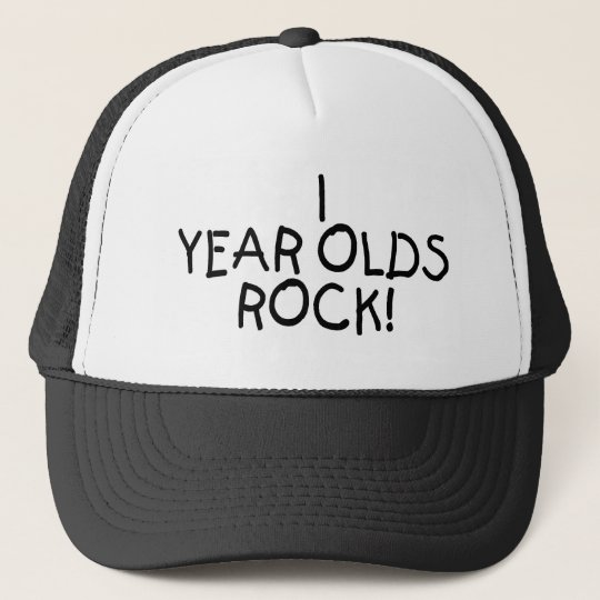 1 Year Olds Rock Trucker Hat