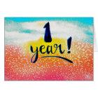 1 Year Sobriety Birthday / Anniversary Card