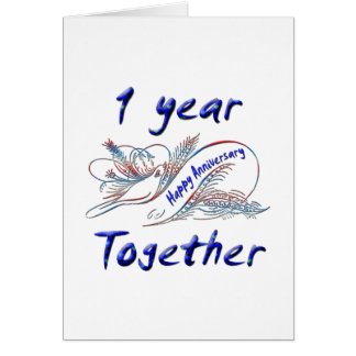 1 Year Together Card