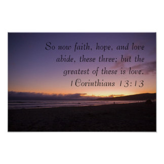 1Corinthians 13:13 Poster