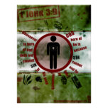 1John 3:9 Cannot Sin Poster