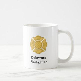 1LOGO11,      Delaware     Firefighter Basic White Mug