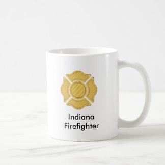 1LOGO11,      Indiana     Firefighter Basic White Mug