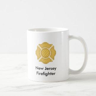 1LOGO11,      New Jersey     Firefighter Basic White Mug