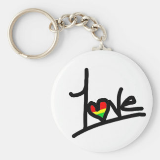 1Love Basic Round Button Key Ring