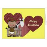 1st 2nd 3rd Birthday Ethnic Toddler Boys Greeting Card