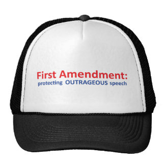 1st Amendment: protecting speech. Trucker Hats