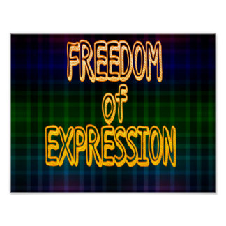 1st Ammendment Freedom of Expression Plaid Pattern Poster