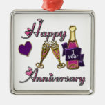 1st. Anniversary Christmas Ornaments