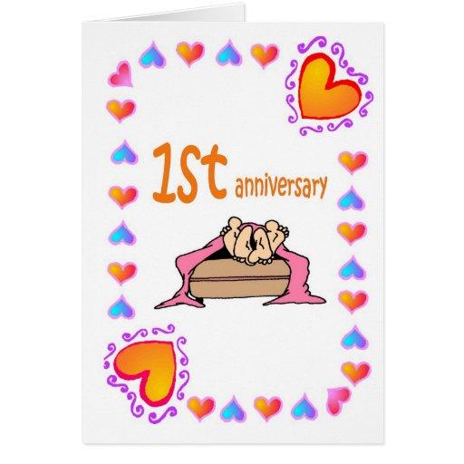 1st anniversary greeting card zazzle