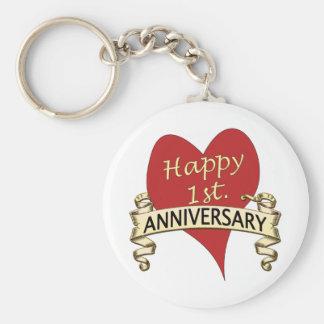 1st Anniversary Keychain