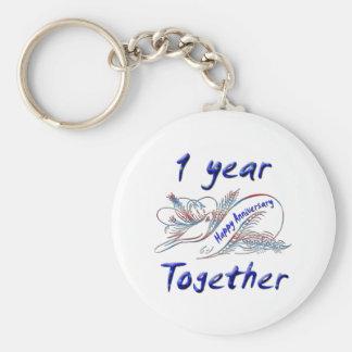 1st Anniversary Keychains