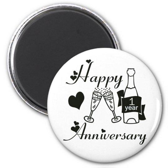1st. Anniversary Magnet